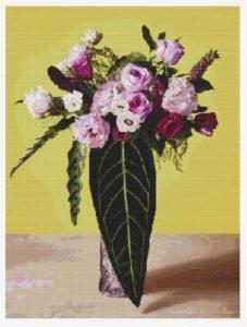 вышивка картин розы розовые