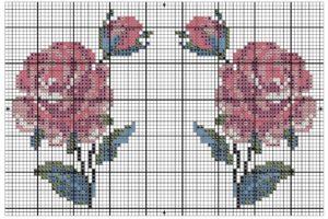 схема роза крестиком