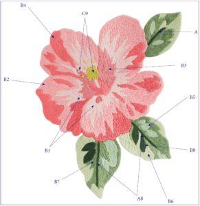 вышивка гладью цветов
