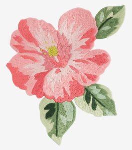 гавайская роза гладью