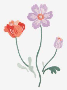 полевые цветы вышивка гладью