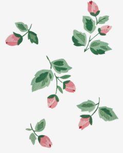 цветы гладью