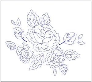 рисунок для вышивки розы