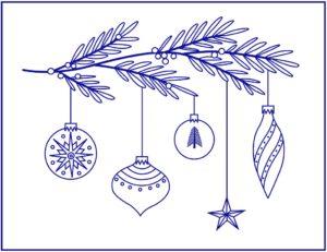 новогодние рисунки вышивки гладью